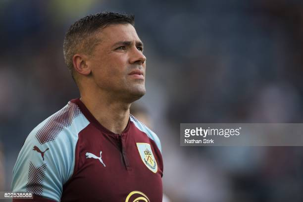 Jonathan Walters of Burnley looks on during the pre season friendly match between Preston North End and Burnley at Deepdale on July 25 2017 in...