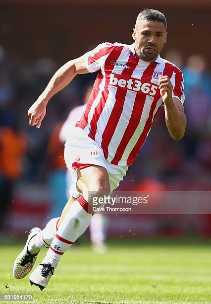Jonathan Walters of Stoke City during the Barclays Premier League match between Stoke City and West Ham United at the Britannia Stadium on May 15...