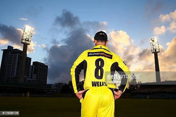 Jonathan Wells of the Warriors fields in the outer during the Matador BBQs One Day Cup match between Western Australia and Queensland at WACA on...