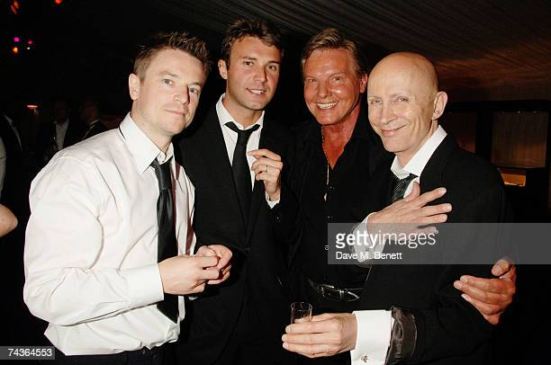 Jonathan Wilkes, Jess Conran and Ricahrd O'Brien attend the Max Beesley And Ryan Giggs Golf Classic And Dinner at the Belfry Golf Club May 20, 2007...