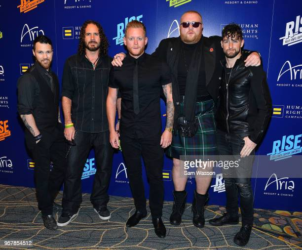 Jonathan Williams Dai Richards Jimmy Denning and Tommy Sherlock members of the vocal group Tenors of Rock attend the Human Rights Campaign's 13th...