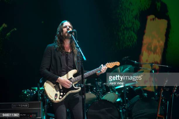 Jonathan Wilson of Roger Waters Band performs on stage during the first date of Us Them European Tour at Palau Sant Jordi on April 13 2018 in...