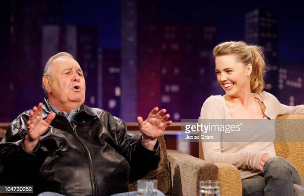 Jonathan Winters and Melissa George on the Jimmy Kimmel Live show on ABC Photo by Jesse Grant/WireImagecom/ABC