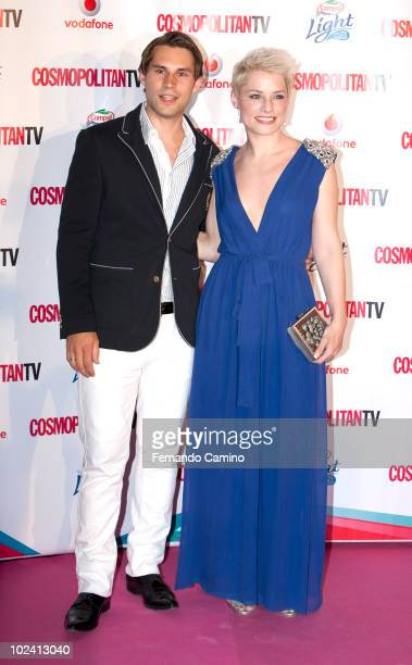 Jonathan with Spanish singer Soraya Arnelas attend the 'Petalo Awards' photocall by Cosmopolitan TV on its 10th Anniversary on June 24 2010 in Madrid...