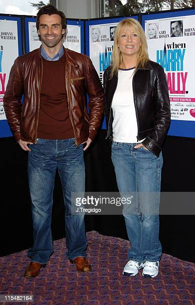 Jonathan Wrather and Gaby Roslin during When Harry Met Sally First UK Tour Photocall at Churchill Theatre in Bromley Great Britain
