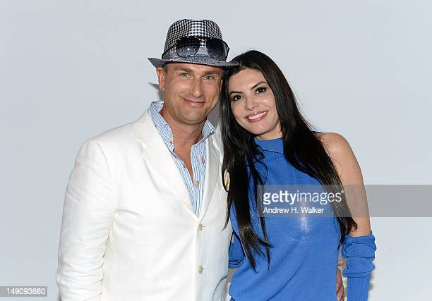 Jonathan Yaskoff and Adriana de Moura attend the Red Carter show during MercedesBenz Fashion Week Swim 2013 at The Raleigh on July 22 2012 in Miami...