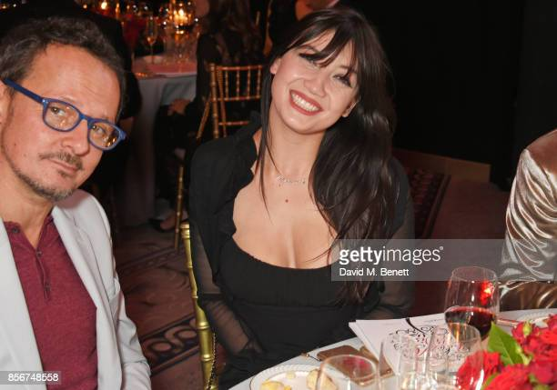 Jonathan Yeo and Daisy Lowe attend The Art Of Wishes Gala at The Dorchester on October 2 2017 in London England