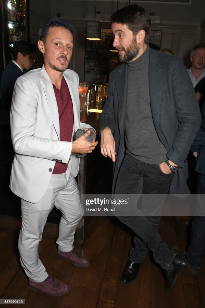 Jonathan Yeo (L) and Kris Thykier attend a private view after party for new Royal Academy Of Arts exhibition 'From Life' hosted by artist Jonathan Yeo at Brown's Hotel on December 7, 2017 in London, England.