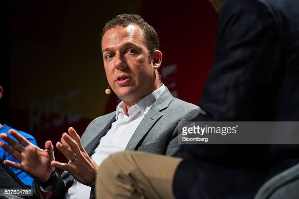 Jonathan Zeman chief executive officer of Lan Kwai Fong Holdings Ltd speaks during the Rise conference in Hong Kong China on Thursday June 2 2016 The...