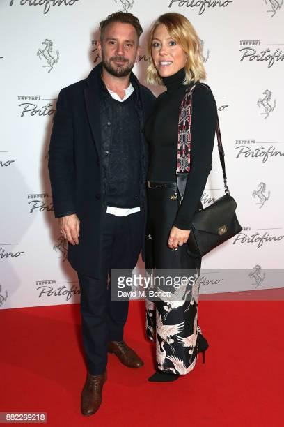 JonathanÊLong and Sophie Long attend the UK launch of the Ferrari Portofino at Kensington Olympia on November 29 2017 in London England