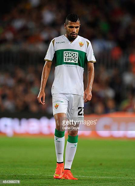 Jonathas Cristian of Elche CF looks on during the La Liga match between FC Barcelona and Elche FC at Camp Nou stadium on August 24 2014 in Barcelona...