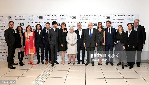 Jonathon Bailey guest Clare Stewart Kit Harington Taron Egerton Colin Morgan Emily Watson former MP Shirley Williams director James Kent Boris...