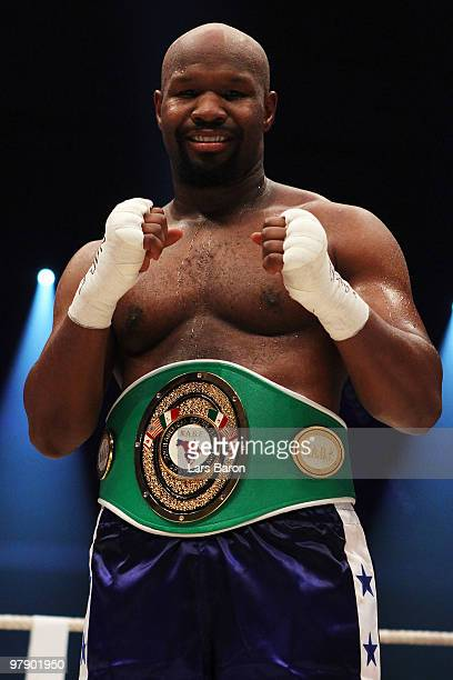 Jonathon Banks of USA celebrates after winning the NABF Heavyweight Championship fight against against Travis Walker of USA prior to the WBO...