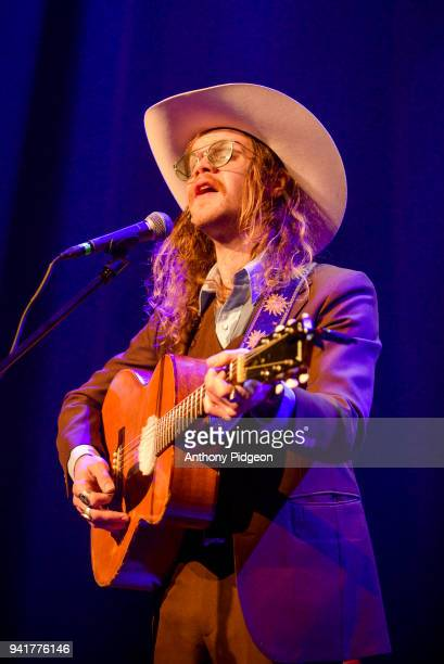 Jonathon Childers of Blank Range performs on stage at Revolution Hall in Portland Oregon USA on 26th February 2018