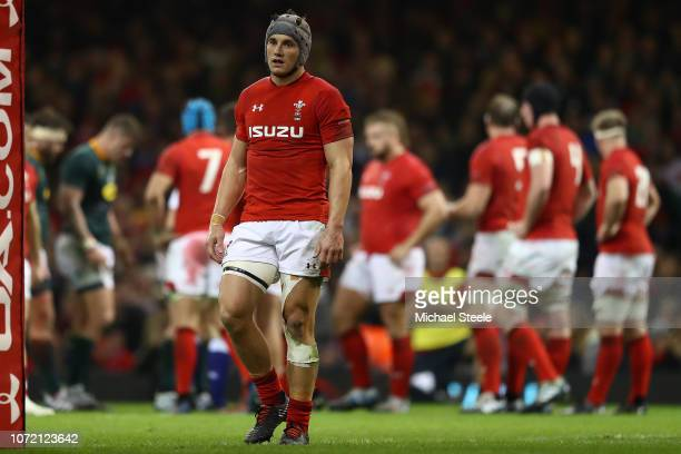 Jonathon Davies of Wales during the International Friendly match between Wales and South Africa at Principality Stadium on November 24 2018 in...