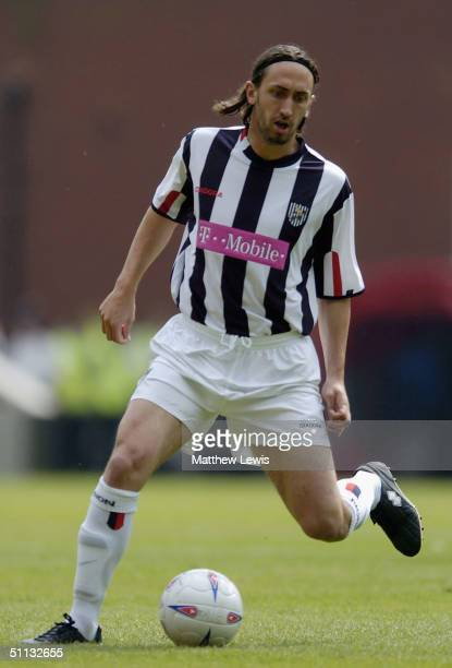 Jonathon Greening of West Bromwich in action during the PreSeason friendly match between Stoke City and West Bromwich Albion at the Britannia Stadium...