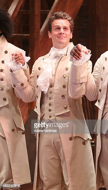 Jonathon Groff during the Broadway opening night performance of 'Hamilton' at the Richard Rodgers Theatre on August 6 2015 in New York City