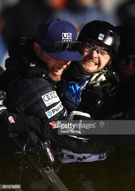 Jonathon Lillis of the United States celebrates winning the gold medal in the Men's Aerials Final on day three of the FIS Freestyle Ski and Snowboard...