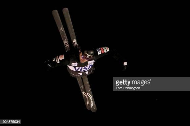 Jonathon Lillis of the United States competes in the Men's Aerials Finals during the 2018 FIS Freestyle Ski World Cup at Deer Valley Resort on...