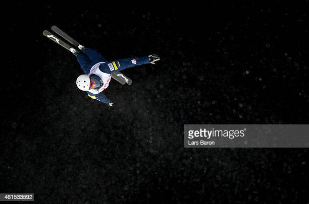 Jonathon Lillis of USA competes during Men's Aerials Training ahead of the FIS Freestyle Ski and Snowboard World Championships on January 14 2015 in...