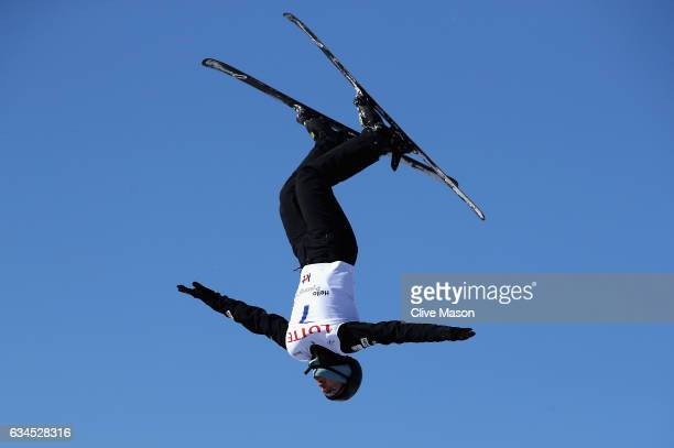 Jonathon Lillis of USA in aaction during Mens Aerials qualification in the FIS Freestyle Ski World Cup 2016/17 Aerials at Bokwang Snow Park on...