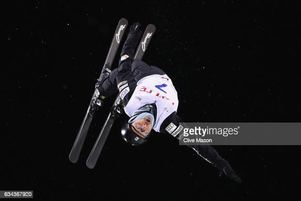 Jonathon Lillis of USA in action during Mens Aerials training prior to the FIS Freestyle World Cup at Bokwang Snow Park on February 9 2017 in...