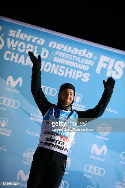 Jonathon Lillis of USA wins the gold medal during the FIS Freestyle Ski Snowboard World Championships Aerials on March 10 2017 in Sierra Nevada Spain
