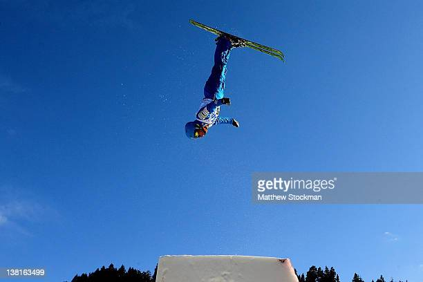 Jonathon Lillis trains for the Men's Aerials during the Visa Freestyle International FIS Freestyle World Cup at Deer Valley on February 3 2012 in...