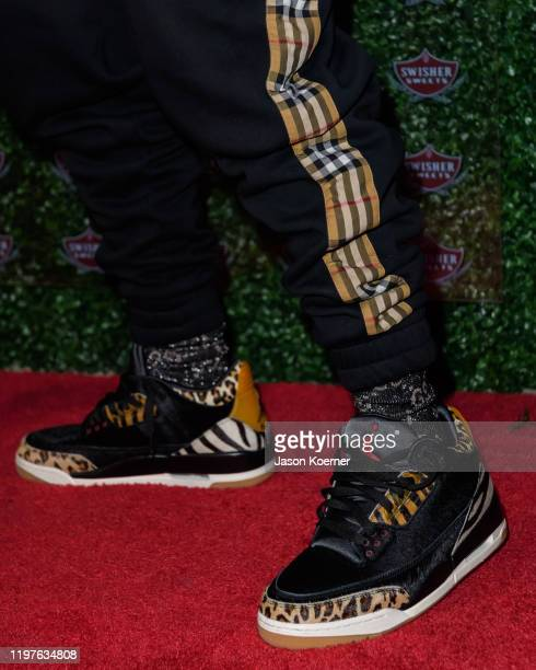 Jonathon Lyndale Kirk also known by his stage name DaBaby shoe detail during the Swisher Sweets Spark Party at E11EVEN Miami on January 30, 2020 in...