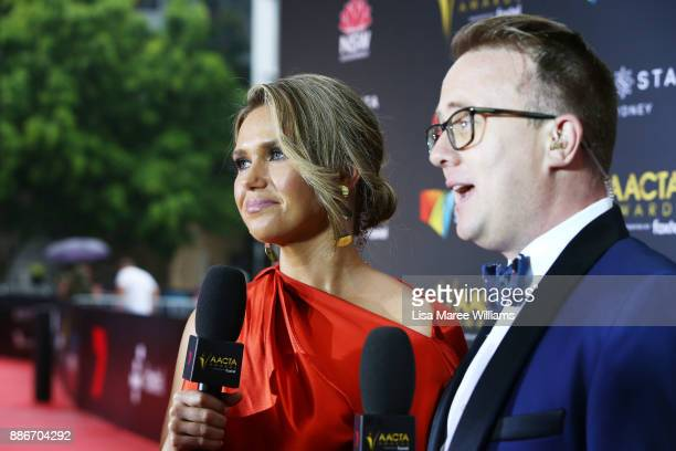 Jonathon Moran and Edwina Bartholomew attend the 7th AACTA Awards Presented by Foxtel | Ceremony at The Star on December 6 2017 in Sydney Australia