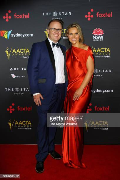 Jonathon Moran and Edwina Bartholomew attends the 7th AACTA Awards Presented by Foxtel | Ceremony at The Star on December 6 2017 in Sydney Australia
