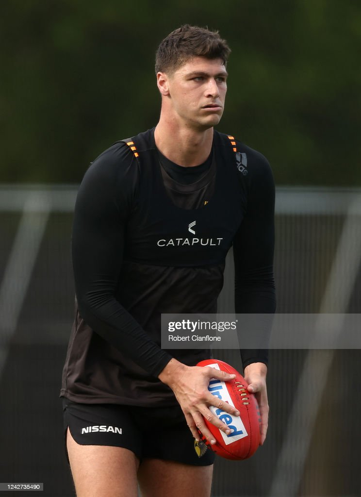 Jonathon Patton Of The Hawks Looks On During A Hawthorn Hawks Afl News Photo Getty Images