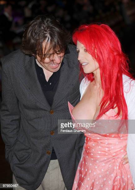 Jonathon Ross and Jane Goldman attend the UK Film Premiere of 'Kick Ass' at Empire Leicester Square on March 22 2010 in London England