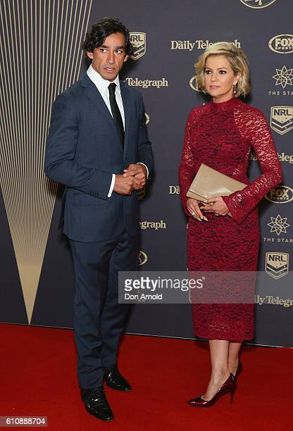 Jonathon Thurston and Sandra Sully arrive at the 2016 Dally M Awards at Star City on September 28 2016 in Sydney Australia