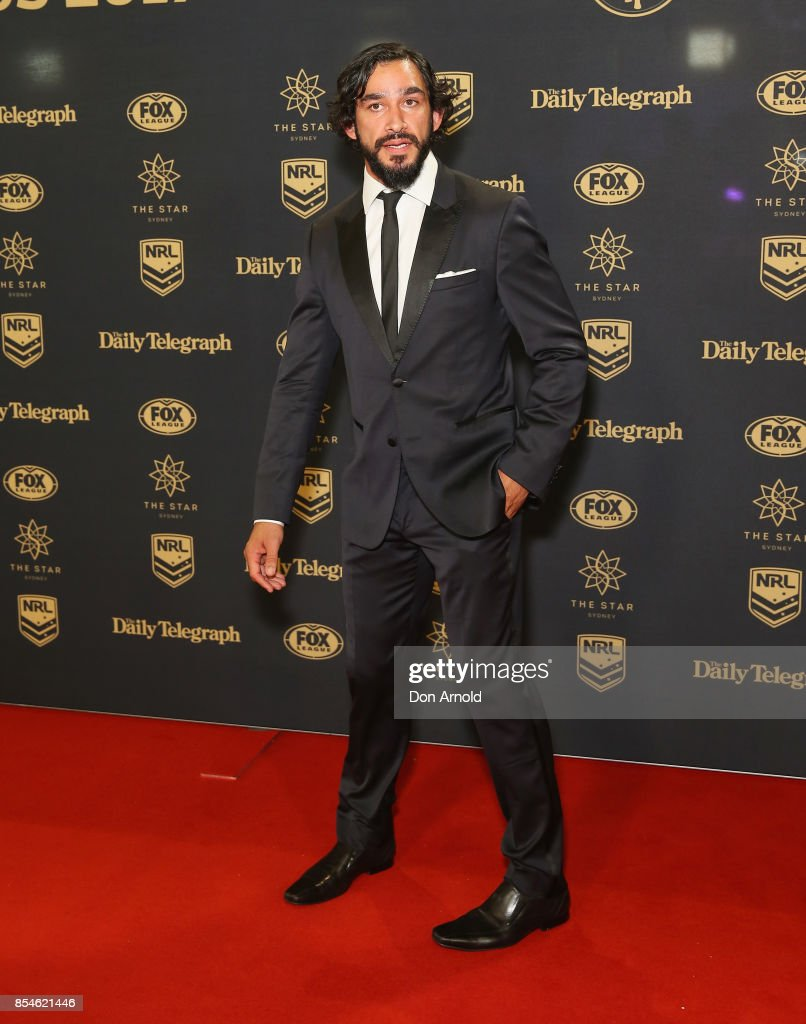 Jonathon Thurston arrives ahead of the Dally M Awards at The Star on September 27, 2017 in Sydney, Australia.