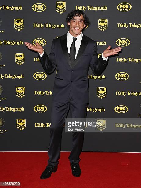Jonathon Thurston arrives at the Dally M Awards at Star City on September 29 2014 in Sydney Australia