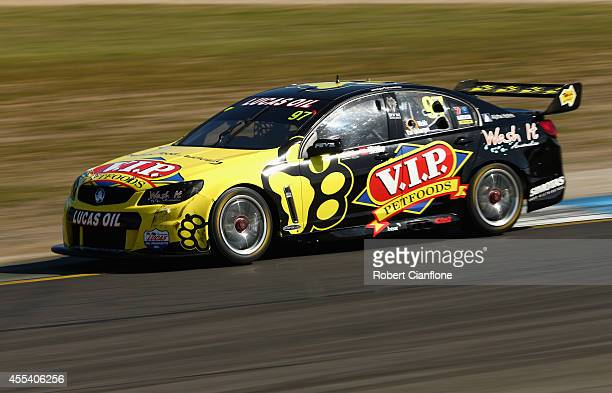 Jonathon Webb drives the TEKNO VIP Petfoods Holden during the Sandown 500 which is race 29 of the V8 Supercar Championship Series at Sandown...