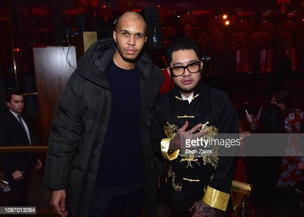 Jonboy and guest pose at Alex Wang's Big Trouble In Little China At The Rainbow Room Powered by Cash App on February 9 2019 at The Rainbow Room in...