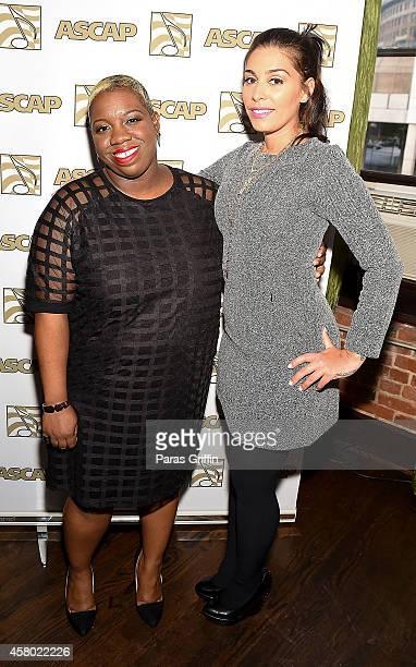 Joncier Rienecker and Jennifer Goicoechea attend the ASCAP Rhythm And Soul Presents Women Behind The Music Atlanta Edition at Negril Village on...