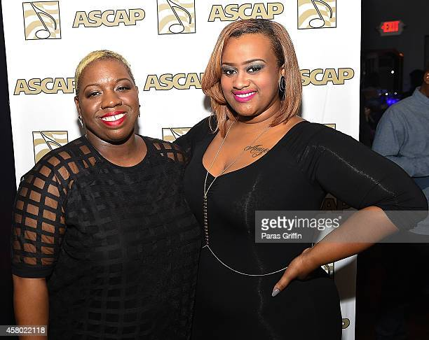 Joncier Rienecker and recording artist Amber Bullock attend the ASCAP Rhythm And Soul Presents Women Behind The Music Atlanta Edition at Negril...