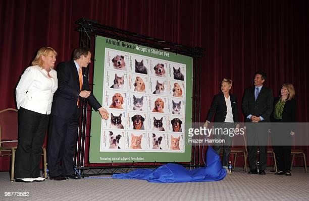 Jone Bouman Wayne Pacelee American Humane Society Actress and talk show host Ellen DeGeneres Joseph Corbett United States Postal Service Chief...