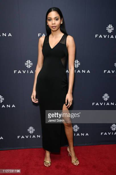 Jonelle Alert attends Faviana's Annual Oscars Red Carpet Viewing Party on February 24 2019 at 75 Wall St in New York City