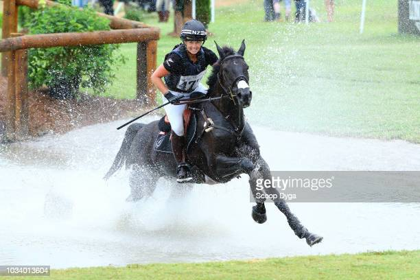 Jonelle Price of New Zealand riding Classic Moet in cross country eventing during the FEI World Equestrian Games 2018 on September 15 2018 in Tryon...