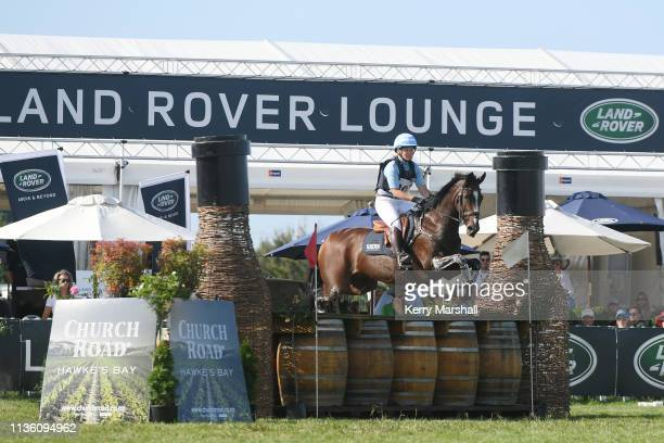 Jonelle Price rides Ricker Ridge Divine Right in the CCI4* cross country during Land Rover Horse of the Year at the Hawke's Bay AP Showgrounds on...