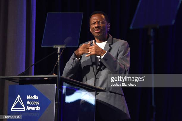 Jones attends the 40th Annual Media Access Awards In Partnership With Easterseals at The Beverly Hilton Hotel on November 14 2019 in Beverly Hills...
