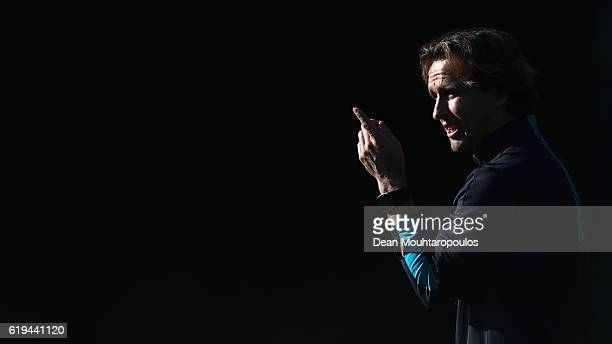 Jong Coach Boudewijn 'Bolo' Zenden looks on during the PSV Eindhoven training session held at De Herdgang on October 31 2016 in Eindhoven Netherlands...