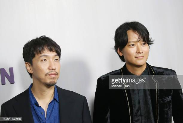 Jongbin Yoon and Dongwon Gang attend the 2018 Hammer Museum Gala In The Garden held on October 14 2018 in Los Angeles California