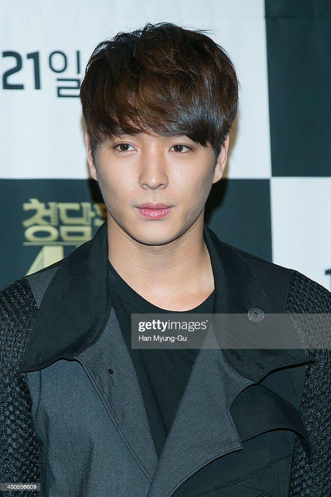 Jonghoon (Jong Hoon) of South Korean boy band FTisland attends tvN Drama 'Cheongdamdong 111' press conference at CGV on November 18, 2013 in Seoul, South Korea. The drama will open on November 21, in South Korea.