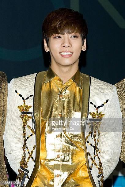 Jonghyun of South Korean boy band SHINee arrives at the 2012 SBS Korea Pop Music Festival named 'The Color Of KPop' at Korea University on December...