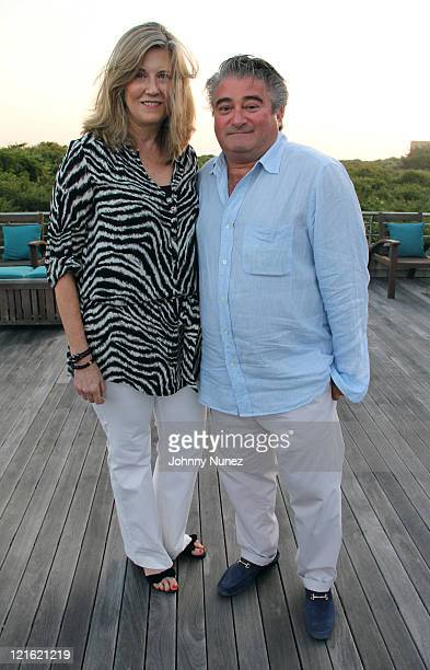 Joni Fischer and Christopher Fischer attend the Evelyn Alexander Wildlife Rescue Center Summer 2011 benefit at a Private Residence on August 20 2011...